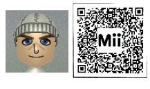 クリス・レッドフィールドのMii(QRコード)