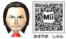 秋山駿のMiiのQRコード