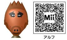 アルフのMiiのQRコード