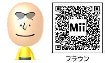 チャーリー・ブラウンのMiiのQRコード