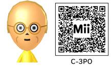 C-3POのMiiのQRコード