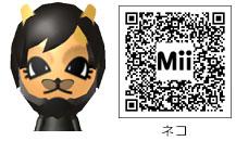 猫のMiiのQRコード