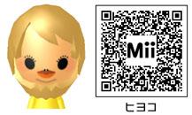ヒヨコのMiiのQRコード