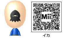 イカのMiiのQRコード