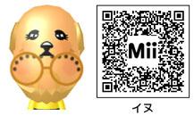 イヌのMiiのQRコード