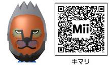 キマリのMiiのQRコード