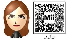 峰不二子のMiiのQRコード