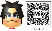 ゴエモンのMiiのQRコード