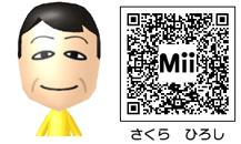 さくら ひろしのMiiのQRコード
