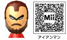 アイアンマンのMiiのQRコード
