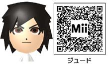 ジュードのMiiのQRコード