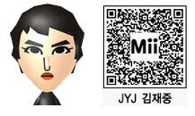 JYJ・ジェジュンのMii(QRコード)