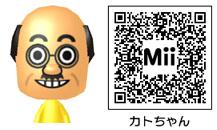カトちゃん(加藤 茶)のMiiのQRコード