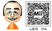 志村けんのMiiのQRコード