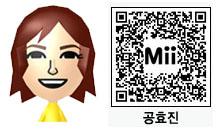 コン・ヒョジンのMii(QRコード)