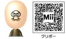 クリボーのMiiのQRコード