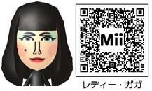 レディー・ガガのMiiのQRコード