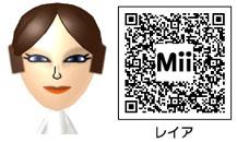 レイア姫のMiiのQRコード
