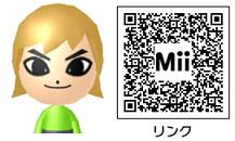 リンクのMiiのQRコード