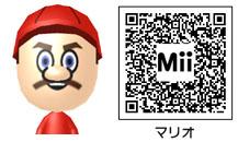 マリオのMiiのQRコード