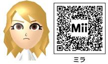 ミラのMiiのQRコード