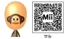 サルのMiiのQRコード