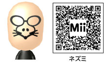 ネズミのMiiのQRコード