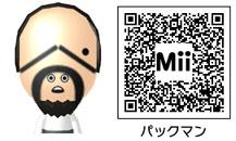 パックマンのMiiのQRコード