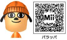 パラッパのMiiのQRコード