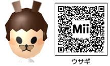 ウサギのMiiのQRコード