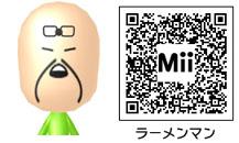 ラーメンマンのMiiのQRコード