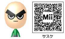 サスケのMiiのQRコード