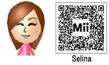 S.H.EのセリナのMii(QRコード)