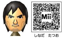 品田辰雄のMiiのQRコード