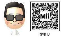 タモリのMiiのQRコード