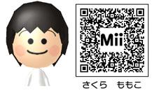 さくら ももこのMiiのQRコード