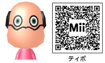 ティポのMiiのQRコード
