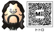 トトロのMiiのQRコード