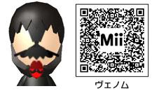 ヴェノムのMiiのQRコード