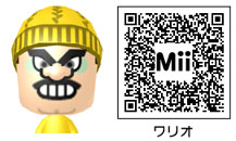 ワリオのMiiのQRコード