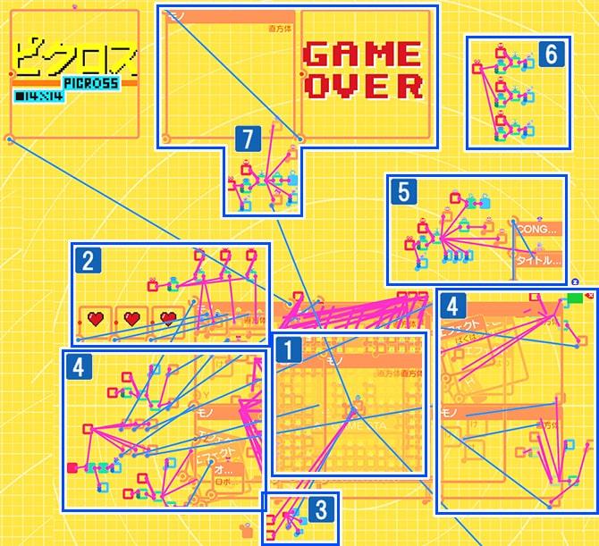 ゲームID『ピクロス』のプログラム画面の説明