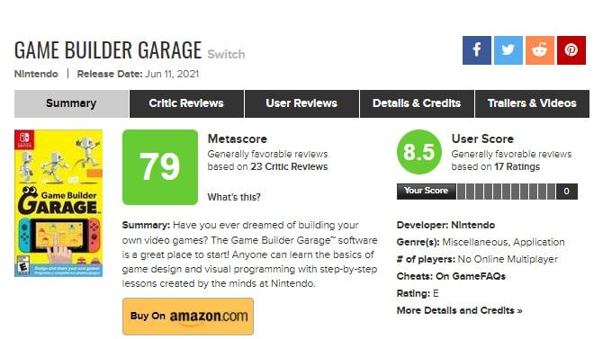 はじめてゲームプログラミングの評価スコア