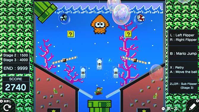 はじめてゲームプログラミングのマリオピンボール制作のゲーム画像