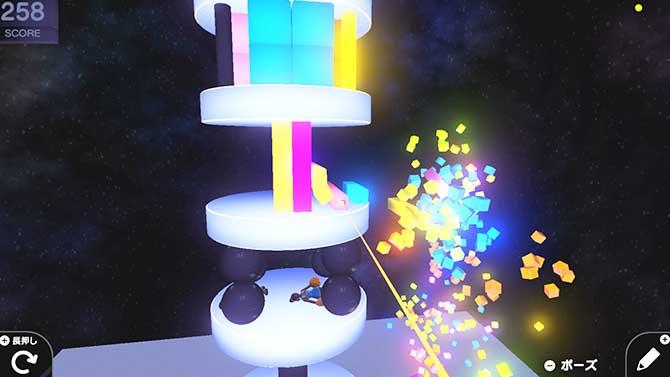 はじめてゲームプログラミングのバランスタワーのゲーム画像