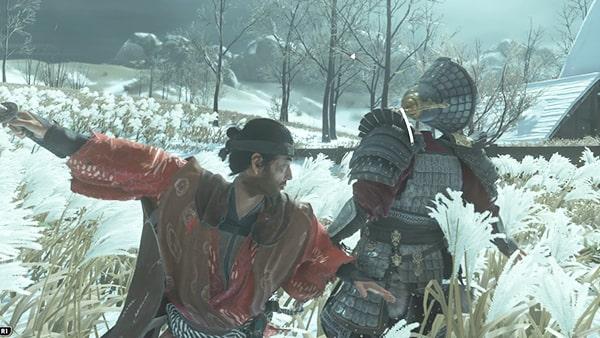 蒙古兵の対象を闇討で倒す様子