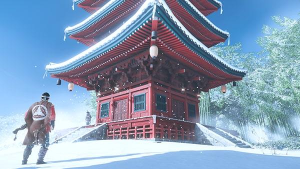 結集を開始できる城岳寺の風景