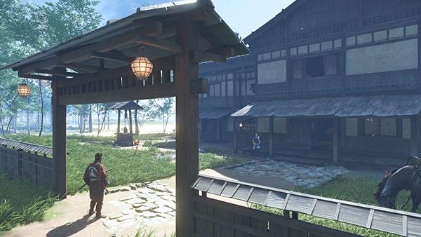 浮世草を開始できる宿屋の風景