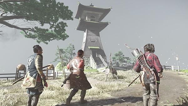 伊東砦での蒙古兵とのバトルシーン
