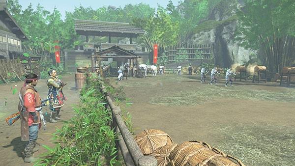 ストーリーの罰を開始できる志村の戦陣の風景