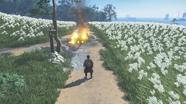 牢人は豆酘を開始できる蒙古の燃えている荷車
